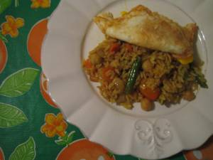 Indian vegetarian fried rice